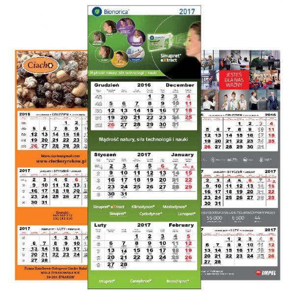 kalendarze trójdzielne 1